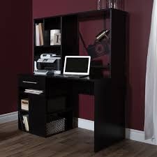 modern black computer desk how to hide a black computer desk manitoba design