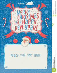 invitation greeting merry christmas and a happy new year greeting card poster or