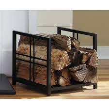 sling indoor firewood rack with tools wrought iron art nouveau