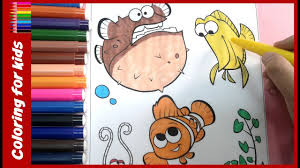 coloring pages for kids how to color finding nemo coloring
