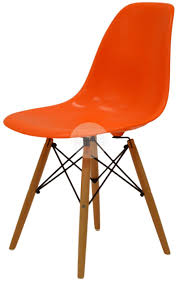 dsw eames dining chair replica timber orange side chair