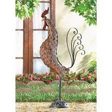 metal sculpture rooster wholesale at koehler home decor