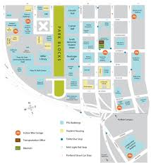 Portland Bike Map by Portland State Transportation U0026 Parking Services Maps
