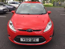 ford fiesta red 2012 zetec manual 1 2 cheap road tax u0026 insurance