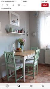 Dining Room Table For Small Space Table Against The Wall Two Chairs One Bench Seat Seating For