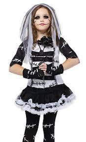 Bride Halloween Costume Kids Girls Goth Rag Doll Corpse Bride Halloween Costume Ebay