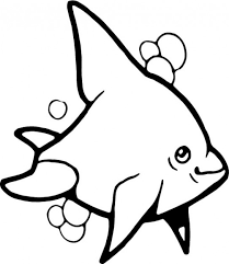 dolphin black white coloring vector free download