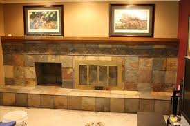 refinish brick with tile amazing how fireplace refacing tile to