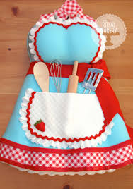 apron kitchen tea bridal shower cake cake ideas pinterest