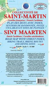 map of st martin road map of st maarten st martin caribbean