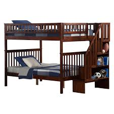 woodland full over full staircase bunk bed hayneedle