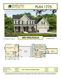 plan 1775 the magnolia floor plans and layout home design