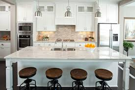 Nickel Pendant Lighting Kitchen Houston White River Granite Kitchen Traditional With French