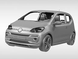 volkswagen up white volkswagen up 2017 3d model cgtrader