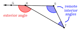 Interior Exterior Angles Angle Properties Of Triangles Wyzant Resources