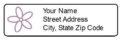 return address label with flower label templates ol25