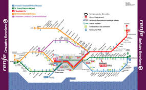 L Train Map Barcelona Metro Map Of Barcelona Metro Tram Train And Airport