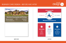 american construction logo and business card u2013 before and after