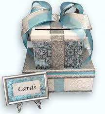 Sweet 16 Invitation Cards Wedding Card Box Card Box With Slot Wedding Card Holder Blue