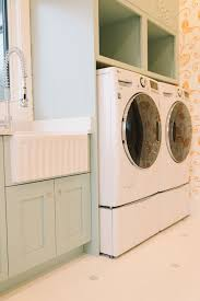 Laundry Room Cabinet Height Green Laundry Room Cabinets Transitional Laundry Room