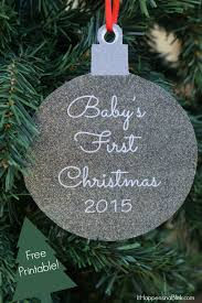 baby s 2015 printable ornament