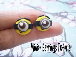 minion earrings diy polymer clay minion earrings