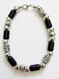 vintage mens necklace images Vintage apache tribe beaded men 39 s beach bracelet chrome black JPG