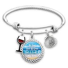 hand charm bracelet images The sun and the sand and a drink in my hand charm bracelet png