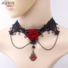 vintage lace choker necklace images Poplov vintage lace red flower choker necklace gothic punk hollow jpg