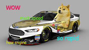 Doge Car Meme - doge and dogecoin are actually really headed to nascar