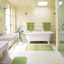 bathroom acrylic white bath up with clawfoot tub on grey floor