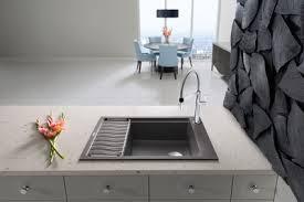 blanco metallic gray sink blanco precis with drainboard new silgranit sink
