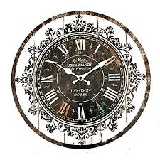 Shabby Chic Wall Clocks by Wall Clock Tracery Vintage Rustic Shabby Art Clock Chic Home