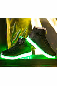 halloween sneakers unisex usb led light lace up high luminous shoes sportswear couple