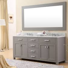 Best Bathroom Furniture Daston 72 Inch Gray Sink Bathroom Vanity Carrara White