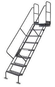 Height Of Handrails On Stairs by Tri Arc Stair Unit Steel 12 Steps 450 Lb Cap 2njx6 Wlis112246