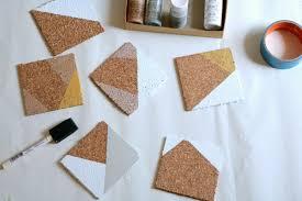 Trending Home Decor Metallic Color Block Coasters Diy An Appealing Plan