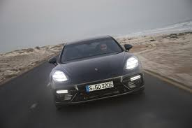 gray porsche panamera porsche panamera turbo executive volcano grey metallic launch