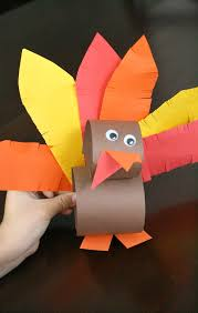 paper roll thanksgiving turkey craft fantastic learning