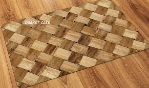 faux flooring printed wood floor mat