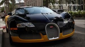 yellow bugatti bijan u0027s black u0026 yellow bugatti veyron on rodeo drive in beverly