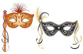 carnival masks carnival masks gold and silver stock vector illustration of