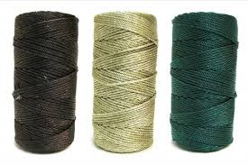 rosary twine earthtones 36 knotted rosary cord twine bundle rosary cord