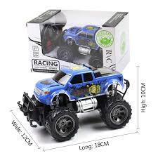 car toy blue 7mhz big wheel rc remote control car toy remote control off road