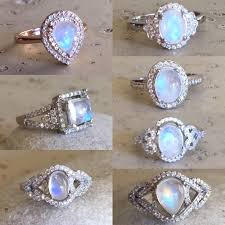 promise ring engagement ring and wedding ring set white opal ring or ring solitaire by northcoastcottage 189 00
