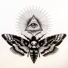 all seeing eye and moth pinteres