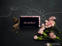 custom modern business cards feminine business cards floral