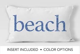 distressed beach pillow 12x18 beach decor beach cottage