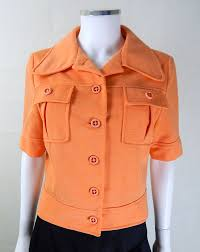 1960s vintage bright orange cropped jacket 1960s vintage jacket
