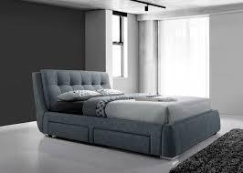 5ft Bed Frame Artisan 4 Drawer 5ft Kingsize Fabric Bedframe Grey